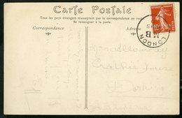"""1910 Oblitération """"LONDON MB"""" Sur N°130 10ct Type Semeuse, Sur CP Du Pollet De Dieppe - Marcophilie (Lettres)"""
