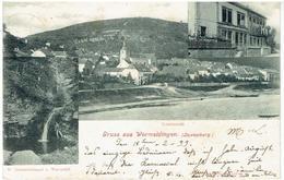 Grüss Aus WORMELDINGEN ( Luxemburg  ) Totalansicht - St Johannistümpel U. Wasserall - Postkaarten