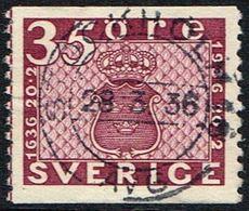 1936. Tercentenary Of The Post Office. 35 öre Plum. STOCKHOLM AVG 28. 3. 36, (Michel 233A) - JF164964 - Usati
