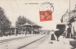 Annemasse ,  Intérieur De La Gare ;  ( L.F.. ,n° 663 ) Train ,quai - Annemasse