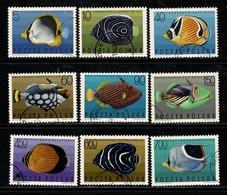 Polska 1967 Yv 1598/1606,  (fishes - Vissen - Poissons) Obl. -  Gebr. - Used - Oblitérés