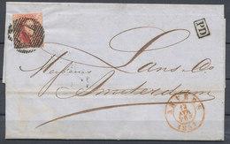 """1854 BRIEF Met COB 8? Van ANVERS Naar AMSTERDAM  Rugzijde Stempel """"?ANVERS Zonder UUR?"""" Zie Scan(s) VL - 1849-1865 Medaillen (Sonstige)"""