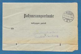 MIROW 1918 POSTZUSTELLUNGSURKUNDE - Covers & Documents