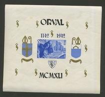 Bloc 21* Orval Surcharge Gothique Bleue *  Cote 10,-€. Charnière Et Adhérence Papier - Blocks & Sheetlets 1924-1960