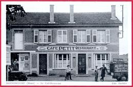 CPA 55 BANNONCOURT Meuse - Le CAFE-RESTAURANT PETIT (voiture De Livraison) ° Edit. Duvivier - Frankrijk