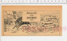 2 Scans Chasse Au Sanglier Chiens Chats Animal Chat Qui Dort Sur Un Canapé 222L - Vieux Papiers