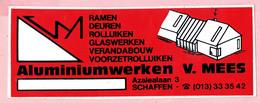Sticker - Aluminiumwerken V. MEES - Azalealaan Schaffen - Autocollants