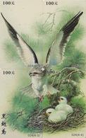 PUZZLE De 4 TC Chine - ANIMAL - OISEAU Rapace - BALBUZARD - OSPREY EAGLE BIRD Phonecards Telefonkarten - BE 4503 - Puzzles