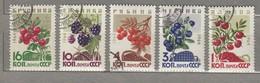 RUSSIA USSR 1964 Berries Mi 2996-3000 Used (o) #24691 - 1923-1991 USSR