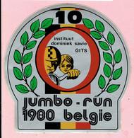 Sticker - JUMBO RUN 1980 Belgie - Instituut Dominiek Savio GITS - Autocollants
