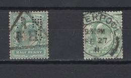 Grande-Bretagne. 1902/10. Y & T N° 106 (X2), Oblitéré  Cote Y & T  2012 : 2 € - Usati