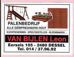Sticker - Palenbedrijf - Vlechtschermen Speeltoestellen Bloembakken - Leon VAN BIJLEN - Eersels 105 DESSEL - Autocollants