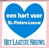 Sticker - Het Laatste Nieuws - Een Hart Voor St.-Pieters-Leeuw - Autocollants
