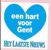 Sticker - Het Laatste Nieuws - Een Hart Voor Gent - Autocollants