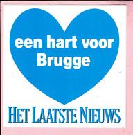Sticker - Het Laatste Nieuws - Een Hart Voor Brugge - Autocollants