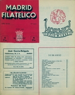 1954 . MADRID FILATÉLICO , AÑO XLVIII , Nº 551 / 6 , EDITADA POR M. GALVEZ - Revistas