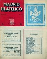 1954 . MADRID FILATÉLICO , AÑO XLVIII , Nº 554 / 9 , EDITADA POR M. GALVEZ - Revistas