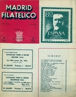 1954 . MADRID FILATÉLICO , AÑO XLVIII , Nº 555 / 10 , EDITADA POR M. GALVEZ - Revistas