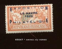 257.A. Le Havre 1929. Beau D'aspect.  Cote 875,- Euros. Superbe Bouche Case - Unused Stamps