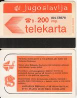 YUGOSLAVIA(Autelca) - Telecom Logo 200 Units(muflon Radece), CN : 8 Digits(within The CN Of JUG-32), Used - Jugoslawien
