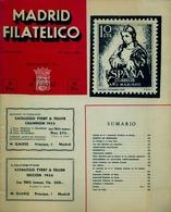 1954 . MADRID FILATÉLICO , AÑO XLVIII , Nº 5552 / 7 Y 553 / 8 , EDITADA POR M. GALVEZ - Revistas
