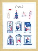 Carte Promo Avec 10 Autocollants Sticker FRESH * XMAS NOEL 2019 * 15 X 21 Cm - Modern (from 1961)