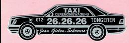 Sticker - TAXI Ceremoniewagens - Jean Gielen-Schreurs TONGEREN - Mercedes - Autocollants