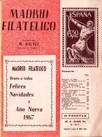 1966 . MADRID FILATÉLICO , AÑO LX , Nº 701 / 12 , EDITADA POR M. GALVEZ - Espagnol (desde 1941)