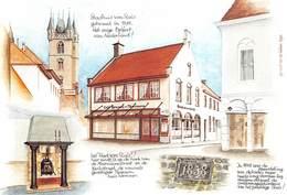 Nederland Zeeland Sluis Geen Postkaart Reclame  Café Tearoom Restaurant  Wemaer Meerminnestraat 13    Barry 2258 - Sluis