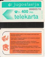 YUGOSLAVIA(Autelca) - Telecom Logo 400 Units(muflon Radece), CN : 7 Digits, Tirage 10000, Used - Jugoslawien
