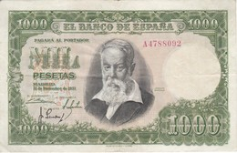 BILLETE DE ESPAÑA DE 1000 PTAS DEL 31/12/1951 SERIE A CALIDAD MBC (VF) (BANKNOTE) - [ 3] 1936-1975: Regime Van Franco