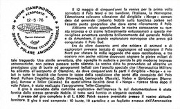 12-5-1926 = 1976 Cinquantenario 1° Sorvolo Del Polo Nord - Expéditions Arctiques