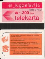YUGOSLAVIA(Autelca) - Telecom Logo 300 Units(muflon Radece), CN : 7 Digits, Tirage 20000, Used - Jugoslawien