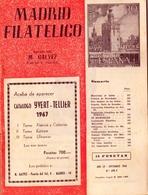 1966 . MADRID FILATÉLICO , AÑO LX , Nº 698 / 9 , EDITADA POR M. GALVEZ - Revistas