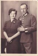 AK Foto Deutscher Soldat Mit Frau - 2. WK (45404) - Weltkrieg 1939-45
