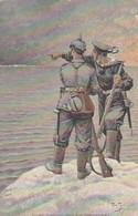 AK Zwei Seelen Und Ein Gedanke - Deutscher Soldat Und Matrose - Patriotika - Rotes Kreuz 1916 (45405) - Weltkrieg 1914-18