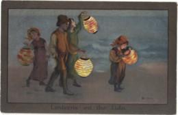 Children - Artist Drawn, Barham,  'lanterns On The Lido', - Children