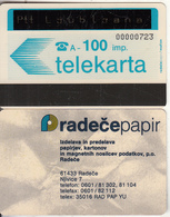SLOVENIA(Autelca) - PTT Ljubljana Card(overprinted), First Issue 100 Units, CN : 8 Digits, Tirage %5000, Used - Slovénie