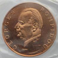 Gabon - 5000 Francs 1971, ESSAI - Visite De G. Pompidou - Gabón