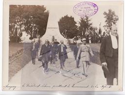 54 - LONGWY (Meurthe Et Moselle) - 1932 Visite Du Président De La République Albert LEBRUN Au Monument De La Défense - R - Lieux