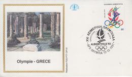 Enveloppe  FDC  1er  Jour   GRECE   JEUX  OLYMPIQUES  D'  HIVER    ALBERTVILLE    1992 - Invierno 1992: Albertville