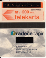 SLOVENIA(Autelca) - Ptt Slovenija Card(overprinted, Orange Letters), First Issue 200 Units, CN : 9 Digits, Used - Slovenia