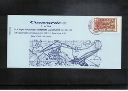 USA 1974 Concorde Flight Toulouse - Fairbanks Via Keflavik Interesting Cover - Concorde