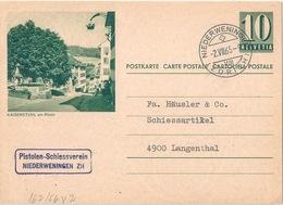 """PK 193  """"Kaiserstuhl Am Rhein""""  Pistolen Schiessverein Niederweningen         1965 - Interi Postali"""