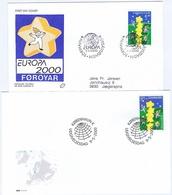 Denmark & Faroe Islands 2000.  Europa - CEPT;  FDC - Europa-CEPT