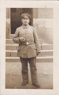 AK Foto Deutscher Soldat Mit Zigarre - 1. WK (45412) - Weltkrieg 1914-18