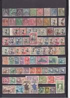 UN LOT DE 106 TIMBRES ANCIENS OBLITERES - Indochina (1889-1945)