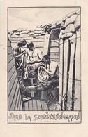 AK Deutsche Soldaten Beim Entlausen - Jagd Im Schützengraben -  1. WK (45415) - Weltkrieg 1914-18