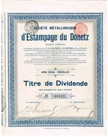 Titre Ancien - Société Métallurgique D'Estampage Du Donetz  - Titre De 1912 - Russie