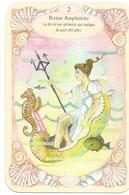 Carte De Jeu, Reine Amphitrie, Déesse De La Mer, Hippocampe, Poisson, Sceptre, Coquillages - Coquille Saint Jacques - Autres Collections